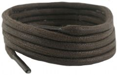 5953d47b2 Laces Brown waxed cotton 140 cm 5 mm round sold in 1 and 2 Pair Packs